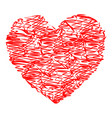 heart red color with strokes vector image vector image