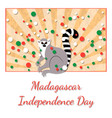independence day in madagascar 26 june rays from vector image vector image