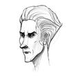 Man portrait sketch Pencil drawing imitation in vector image vector image