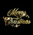 merry christmas and happy new year 2019 gold vector image vector image