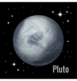 Pluto planet 3d High quality vector image vector image