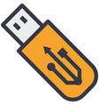 portable usb flash connector device flat vector image