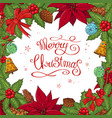 pretty card with christmas decoration vector image