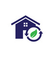 recycle home icon vector image vector image