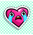 red heart cries vector image vector image