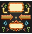 Retro Showtime Signs Design Elements Set Bright vector image vector image