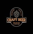 retro vintage hipster craft beer store label logo vector image vector image