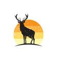 rustic elk logo vector image vector image