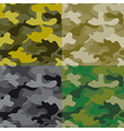 Seamless military pattern vector image