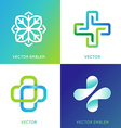 set abstract logos and emblems - alternative vector image vector image