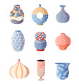 set colorful modern vase for home interior vector image vector image