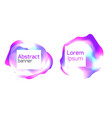 set of abstract foil banners liquid iridescent vector image vector image