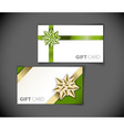 Set of modern gift card templates vector image