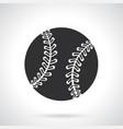 silhouette baseball ball vector image