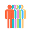 six human sign people symbol vector image vector image