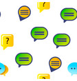 speech bubble icon set seamless pattern vector image