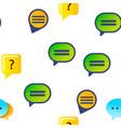 speech bubble icon set seamless pattern vector image vector image