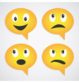 speech bubbles smiles vector image