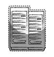 sticker monochrome blurred of tower server vector image