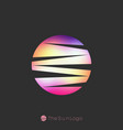 sun logo template colorful gradient logotype vector image