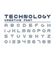 technology creative font trendy english vector image vector image