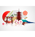 traditional japanese background vector image vector image