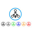 triple penetration sex rounded icon vector image vector image