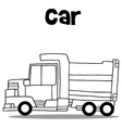 truck hand draw vector image vector image