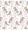 unicorns pattern background vector image