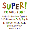 Wow Creative high detail font for your design The vector image vector image