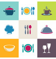 restaurant menu icons collection vector image