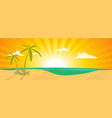 summer exotic beach landscape banner vector image