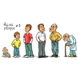 Aging people - set 1 vector image