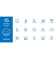 15 person icons vector image vector image