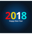 2018 and new year stylish typography banner with vector image vector image