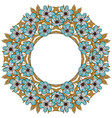 abstract flower frame with text place vector image vector image