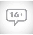 Age restriction grey message icon vector image vector image