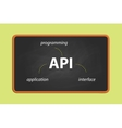 api application programming interface on text on vector image vector image