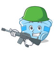 army baby diaper character cartoon vector image vector image