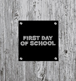 Back to school poster design vector image