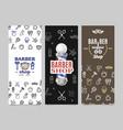 barber shop banner poster card ad vertical set vector image vector image