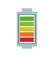 battery charge level full degree power vector image