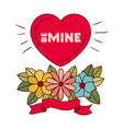 be mine label isolated icon vector image