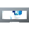 blue horizontal cover template layout design vector image vector image