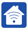 blue white information sign - house with signal vector image vector image
