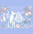 bridal shower invitation banner vector image vector image