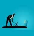 businessman digging his own grave vector image vector image