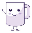 coffee mug kawai character vector image