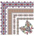 collection of ornamental floral vintage frame desi vector image