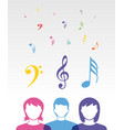 color music people vector image